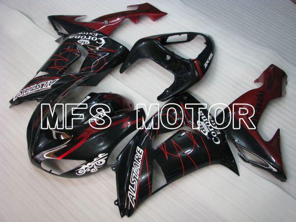 Kawasaki NINJA ZX10R 2006-2007 Injection ABS Fairing - Corona - Black Red - MFS4023