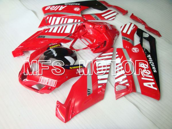 Ducati 749 / 999 2005-2006 Injection ABS Fairing - Alice - Red White - MFS4042