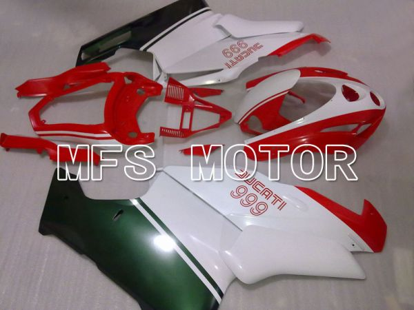 Ducati 749 / 999 2003-2004 Injection ABS Fairing - Factory Style - Red White - MFS4024