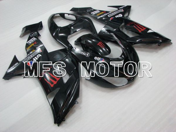 Kawasaki NINJA ZX10R 2006-2007 Injection ABS Fairing - Monster - Black - MFS4025