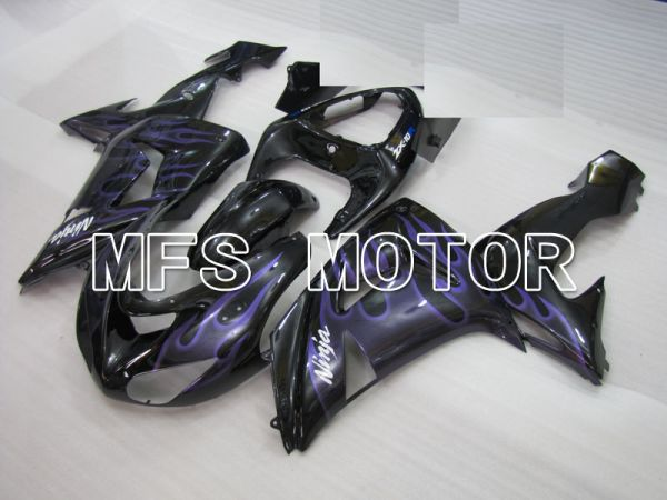 Kawasaki NINJA ZX10R 2006-2007 Injection ABS Fairing - Flame - Black Purple - MFS4027