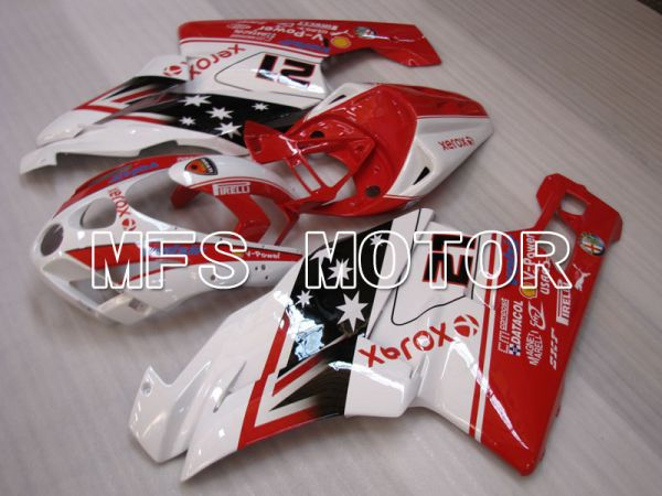 Ducati 749 / 999 2003-2004 Injection ABS Fairing - Xerox - Red White - MFS4033