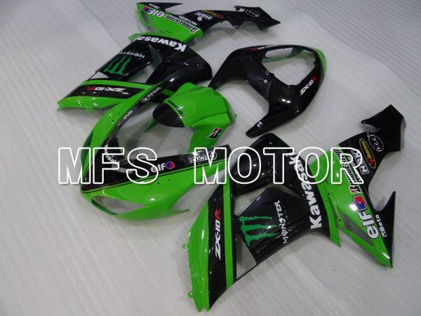 Kawasaki NINJA ZX10R 2006-2007 Injection ABS Fairing - Monster - Black Green - MFS4034
