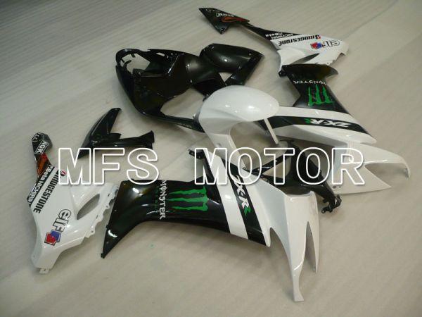 Kawasaki NINJA ZX10R 2008-2010 Injection ABS Fairing - Monster - Black White - MFS4048