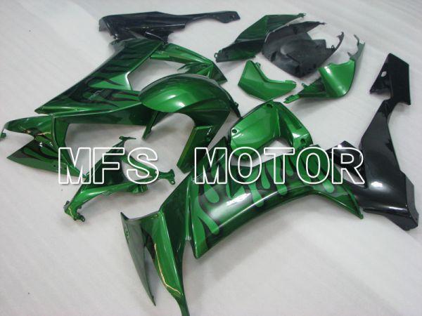 Kawasaki NINJA ZX10R 2008-2010 Injection ABS Fairing - Flame - Black Green - MFS4052