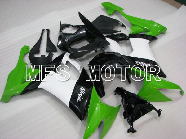 Kawasaki NINJA ZX10R 2008-2010 Injection ABS Fairing - Factory Style - Black Green White - MFS4055