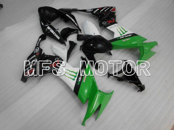 Kawasaki NINJA ZX10R 2008-2010 Injection ABS Fairing - Monster - Black Green White - MFS4064