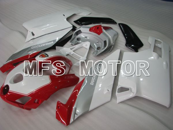 Ducati 749 / 999 2005-2006 Injection ABS Fairing - Factory Style - Red Silver White - MFS4079