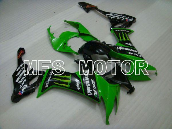 Kawasaki NINJA ZX10R 2008-2010 Injection ABS Fairing - Monster - Black Green - MFS4080