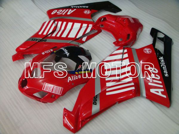 Ducati 749 / 999 2005-2006 Injection ABS Fairing - Alice - Red White - MFS4084