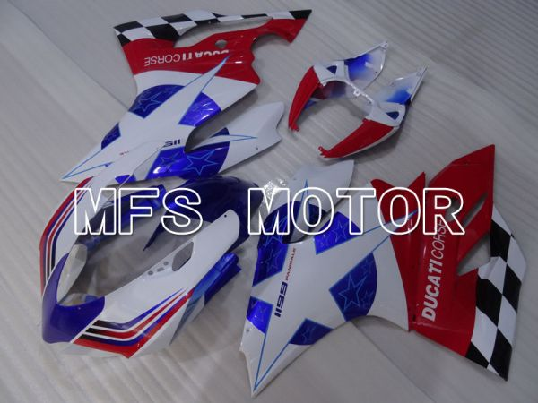 Ducati 1199 2011-2014 Injection ABS Fairing - Factory Style - Red White Blue - MFS4096