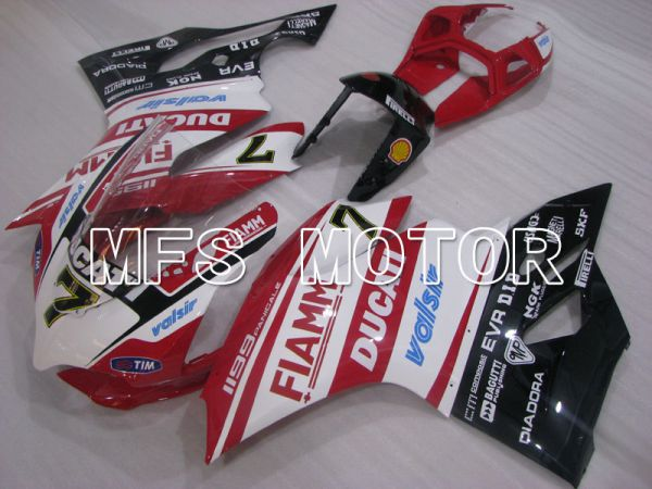 Ducati 1199 2011-2014 Injection ABS Fairing - FIAMM - Red White - MFS4100