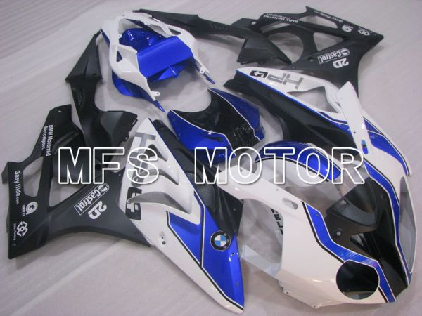 BMW S1000RR 2009-2014 Injection ABS Fairing - Factory Style - Black White Blue - MFS4157