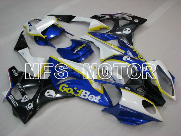 BMW S1000RR 2009-2014 Injection ABS Fairing - Factory Style - Black White Blue - MFS4150