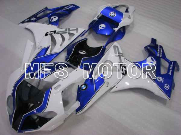 BMW S1000RR 2009-2014 Injection ABS Fairing - Factory Style - White Blue - MFS4155