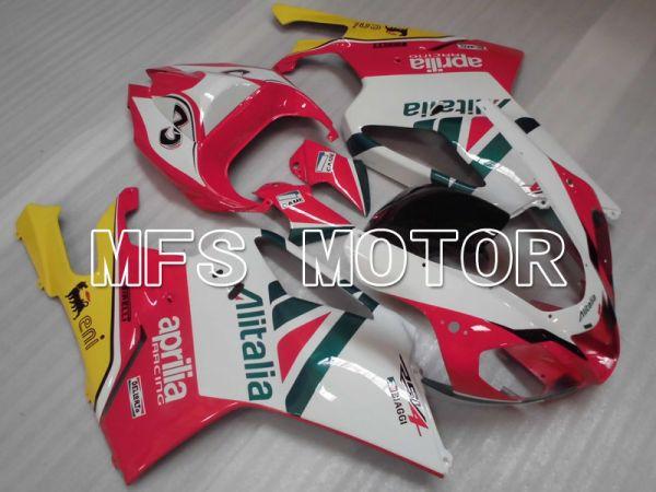 Aprilia RSV 1000 R 2004-2009 ABS Fairing - Alitalia - White Pink - MFS4312