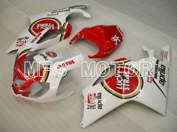 Aprilia RSV 1000 R 2004-2009 ABS Fairing - Lucky Strike - White Red - MFS4331