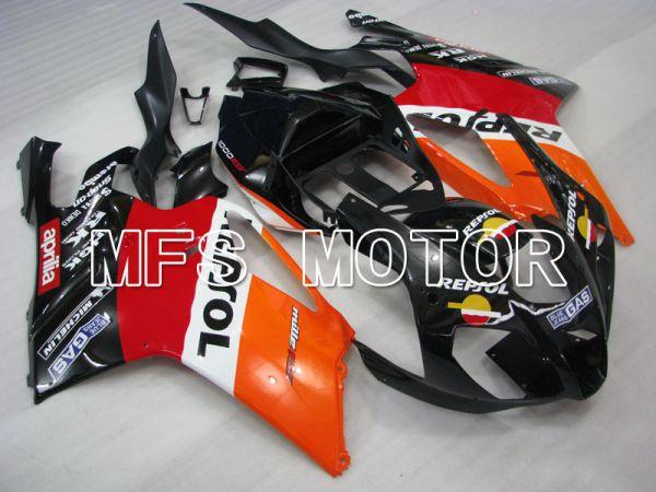 Aprilia RSV 1000 R 2004-2009 ABS Fairing - Repsol - Black Red Orange - MFS4334