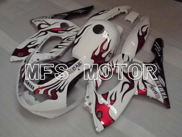 Yamaha YZF-600R 1997-2007 Injection ABS Fairing - Flame - Red wine color White - MFS4446