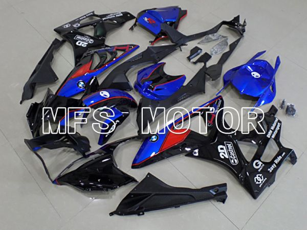 BMW S1000RR 2009-2014 Injection ABS Fairing - Factory Style - Black Blue - MFS4491