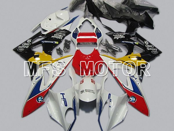 BMW S1000RR 2009-2014 Injection ABS Fairing - Factory Style - Black White Red - MFS4492