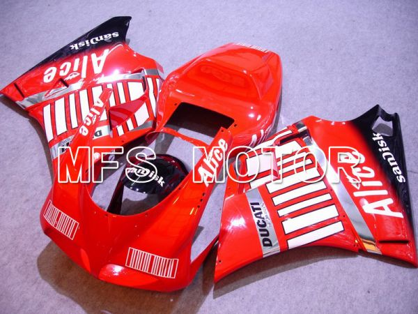 Ducati 748 / 998 / 996 1994-2002 Injection ABS Fairing - Alice - Black Red - MFS4553