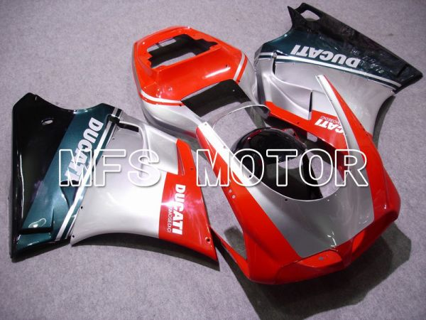 Ducati 748 / 998 / 996 1994-2002 Injection ABS Fairing - Factory Style - Red Silver - MFS4583