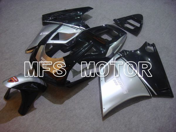 Ducati 748 / 998 / 996 1994-2002 Injection ABS Fairing - Factory Style - Black Silver - MFS4588