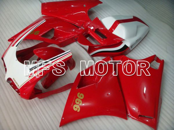 Ducati 748 / 998 / 996 1994-2002 Injection ABS Fairing - Factory Style - Red White - MFS4594