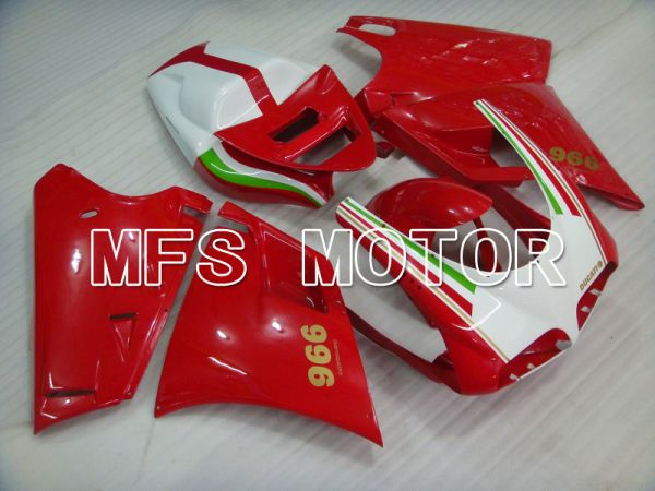 Ducati 748 / 998 / 996 1994-2002 Injection ABS Fairing - Factory Style - Red White - MFS4595