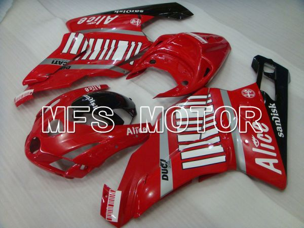 Ducati 749 / 999 2003-2004 Injection ABS Fairing - Alice - Red Black - MFS4627