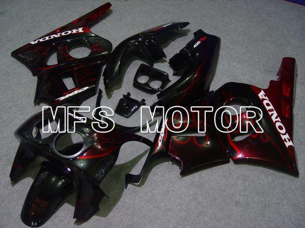 Honda CBR 400RR NC29 1990-1999 ABS Fairing - Flame - Red wine color Black - MFS4628