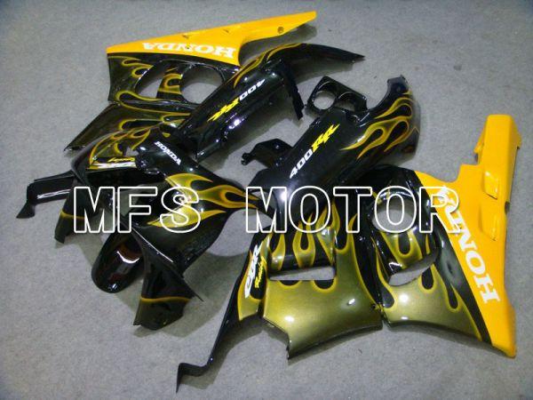 Honda CBR 400RR NC29 1990-1999 ABS Fairing - Flame - Yellow Black - MFS4629