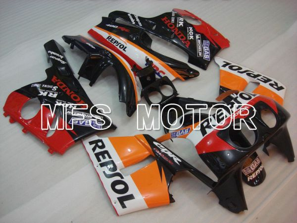 Honda CBR 400RR NC29 1990-1999 ABS Fairing - Repsol - Red Black Orange - MFS4643