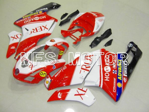 Ducati 749 / 999 2003-2004 Injection ABS Fairing - Xerox - Red White - MFS4659