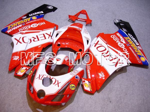 Ducati 749 / 999 2003-2004 Injection ABS Fairing - Xerox - Red White - MFS4661