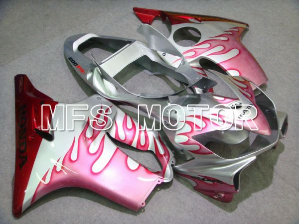 Honda CBR600 F4i 2001-2003 Injection ABS Fairing - Flame - Pink Silver - MFS4671