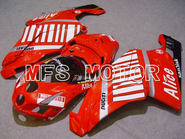 Ducati 749 / 999 2005-2006 Injection ABS Fairing - Alice - Red White - MFS4672