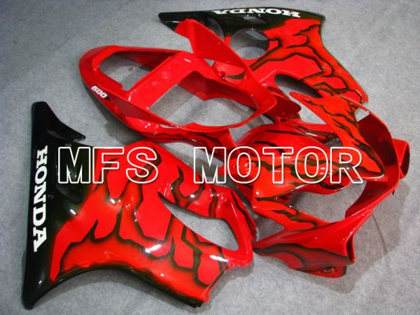 Honda CBR600 F4i 2001-2003 Injection ABS Fairing - Flame - Black Red - MFS4674