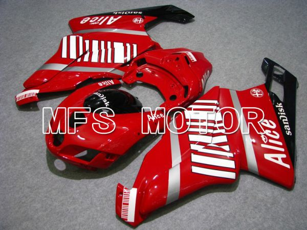 Ducati 749 / 999 2005-2006 Injection ABS Fairing - Alice - Red White - MFS4679