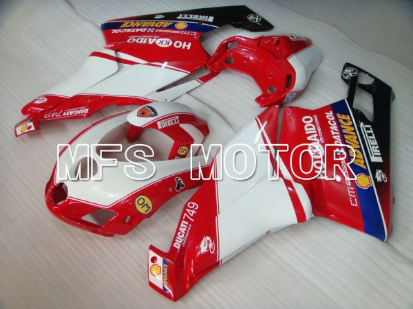 Ducati 749 / 999 2005-2006 Injection ABS Fairing - Xerox - Red White - MFS4719