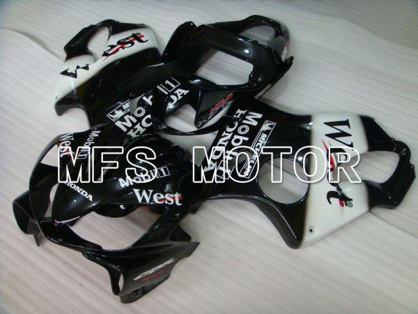 Honda CBR600 F4i 2001-2003 Injection ABS Fairing - West - Black White - MFS4755