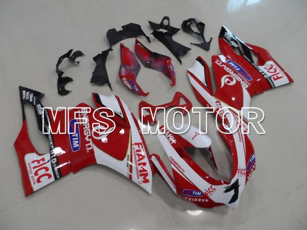 Ducati 1199 2011-2014 Injection ABS Fairing - FIAMM - Red White - MFS4799