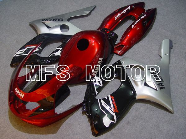Yamaha YZF-600R 1997-2007 Injection ABS Fairing - Factory Style - Red wine color Black Silver - MFS4843