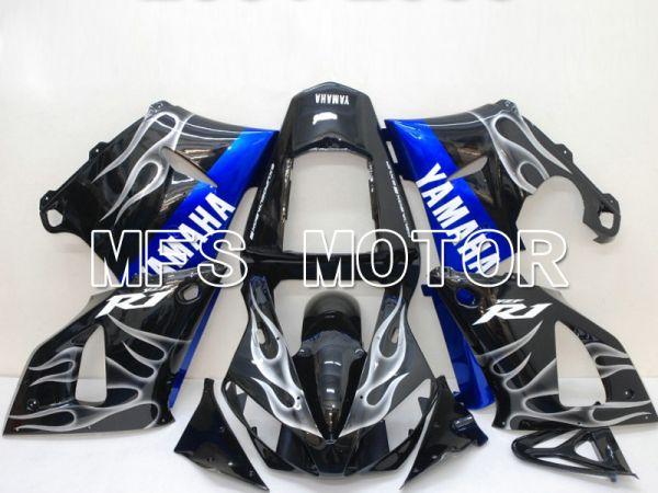 Yamaha YZF-R1 2000-2001 Injection ABS Fairing - Flame - Blue Black - MFS4862