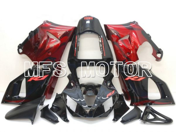 Yamaha YZF-R1 2000-2001 Injection ABS Fairing - Flame - Black Red - MFS4874