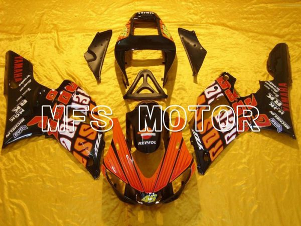 Yamaha YZF-R1 2000-2001 Injection ABS Fairing - Rossi - Black Orange - MFS4885