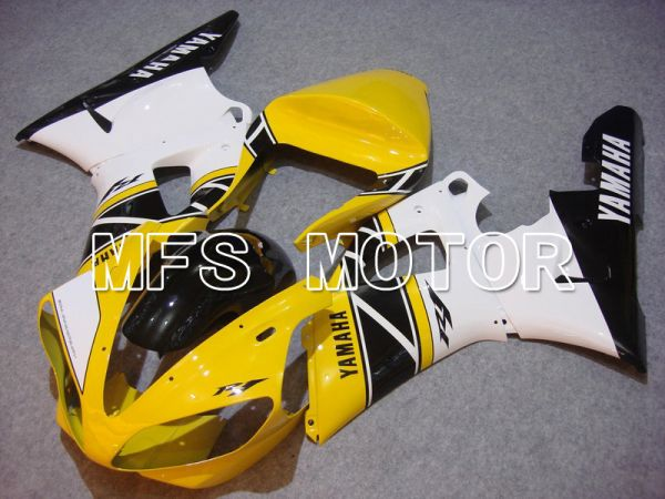Yamaha YZF-R1 2000-2001 Injection ABS Fairing - Factory Style - Yellow White - MFS4906