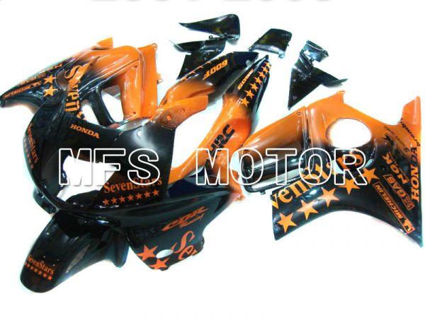Honda CBR600 F3 1997-1998 Injection ABS Fairing - SevenStars - Black Orange - MFS5026