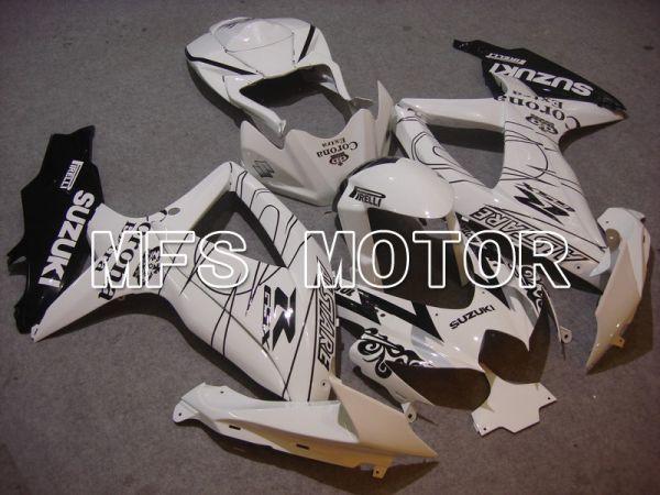 Suzuki GSXR600 GSXR750 2008-2010 Injection ABS Fairing - Corona - Black White - MFS5031